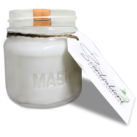 Awapuhi Seaberry Mason Jar Candle 100% Pure Beeswax and Coconut Oil Wooden Wick