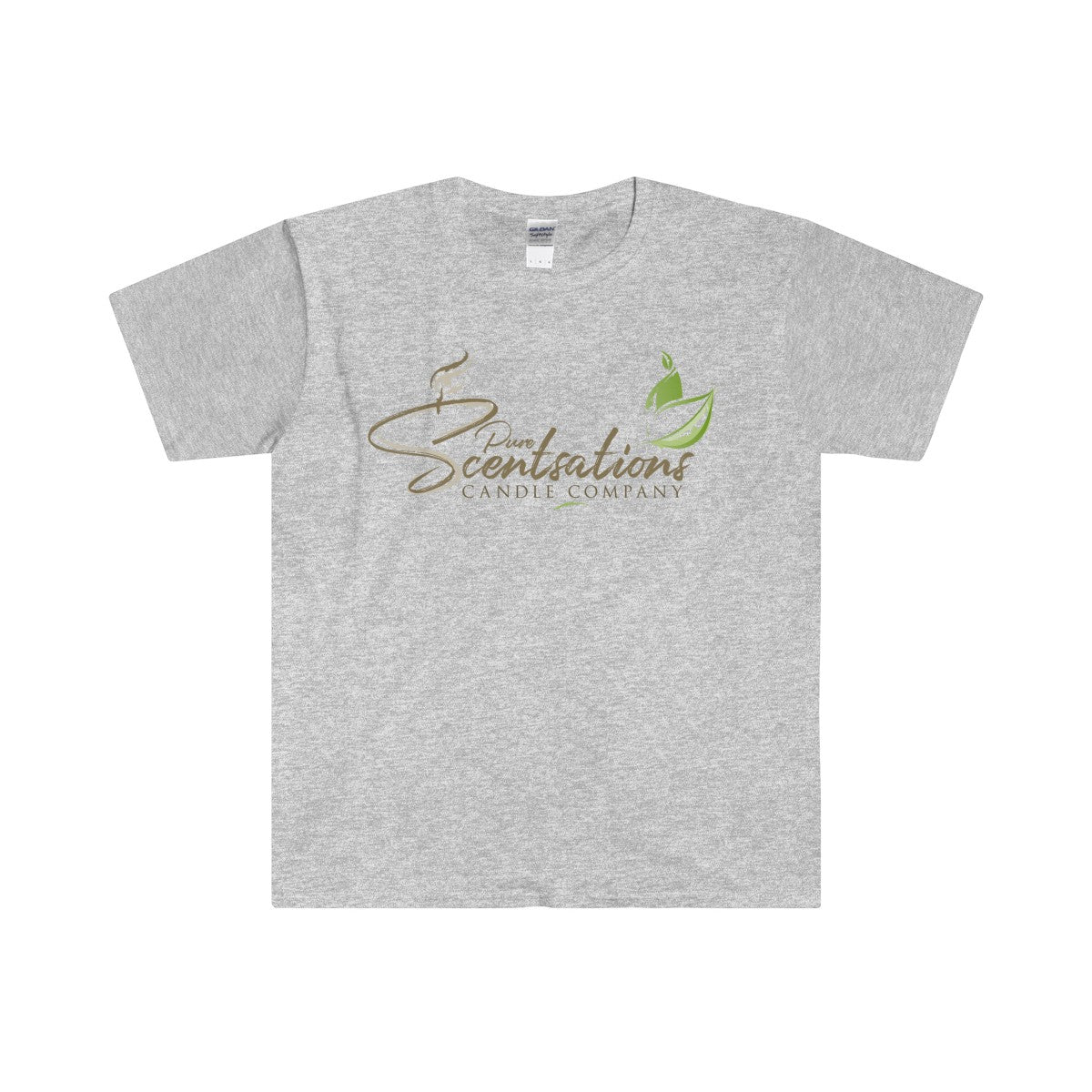 Pure Scentsations Candle Company Fitted Short Sleeve Tee Grey