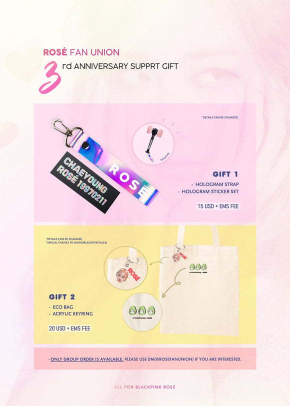 [PO CLOSED] ROSE 3 YEARS DEBUT ANNIVERSARY PROJECT BY @rosefanunion