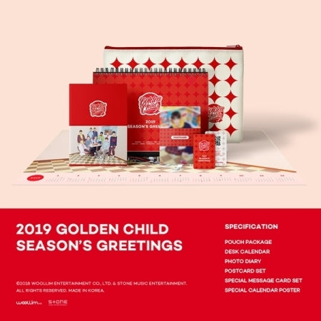 [PRE ORDER] GOLDEN CHILD 2019 OFFICIAL SEASON'S GREETINGS