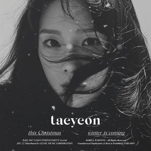 [PRE ORDER] TAEYEON WINTER SPECIAL ALBUM - THIS CHRISTMAS-WINTER IS COMING