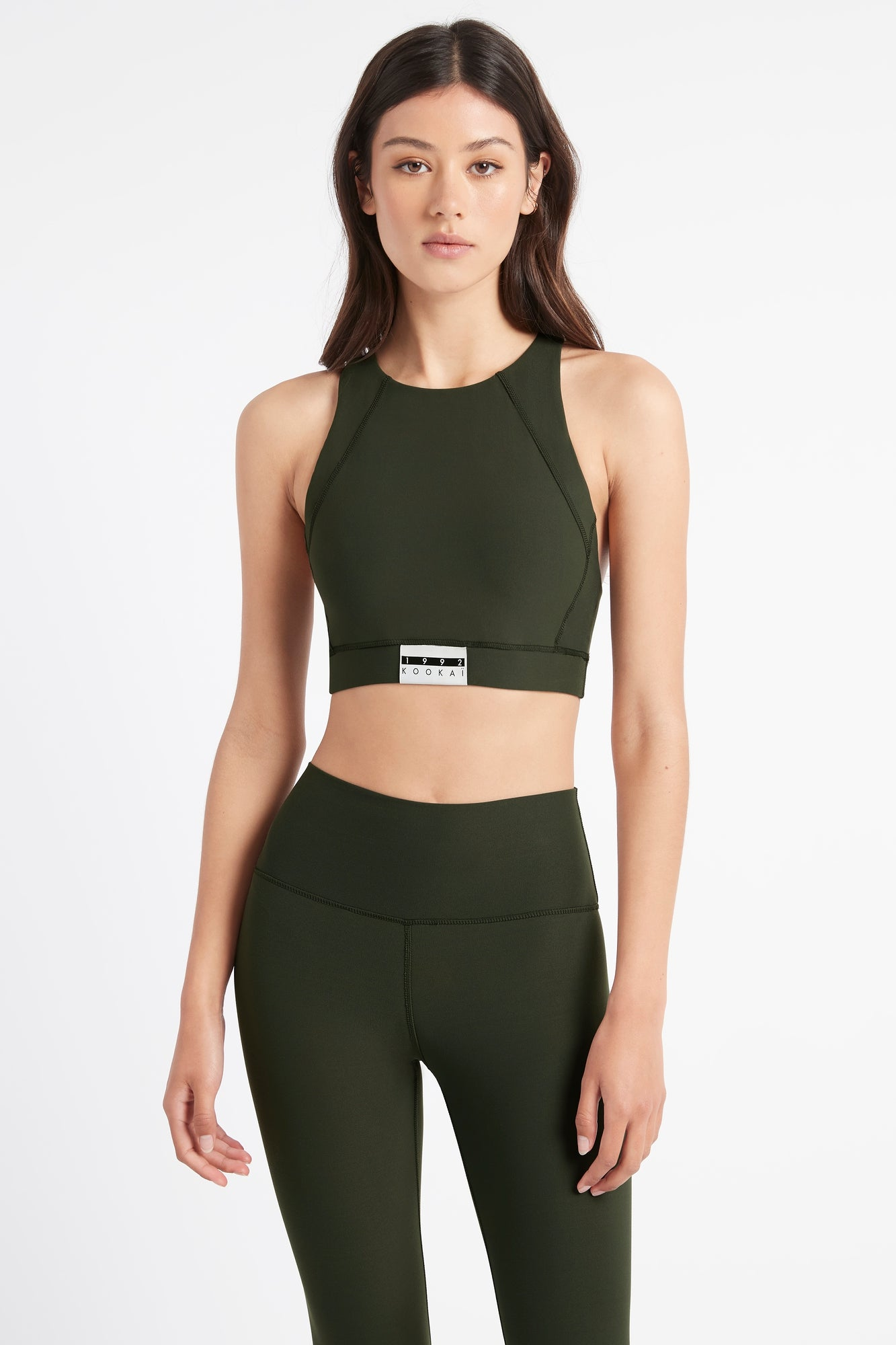 Kookai Sport Patch Crop Top