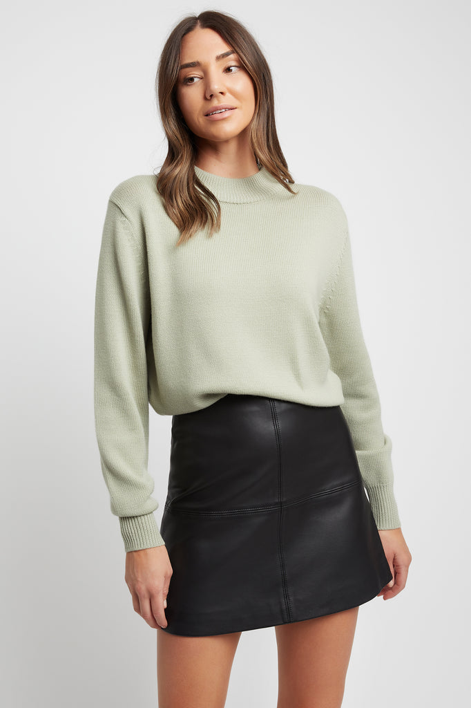 Autumn Built Up Neckline Jumper