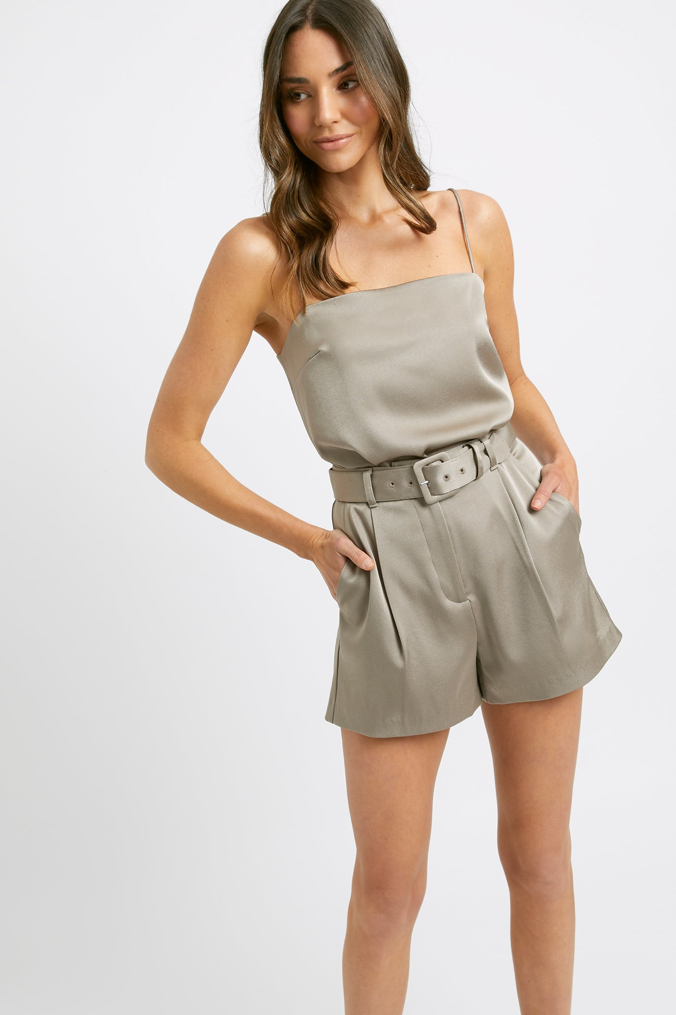 Majestic Belted Shorts