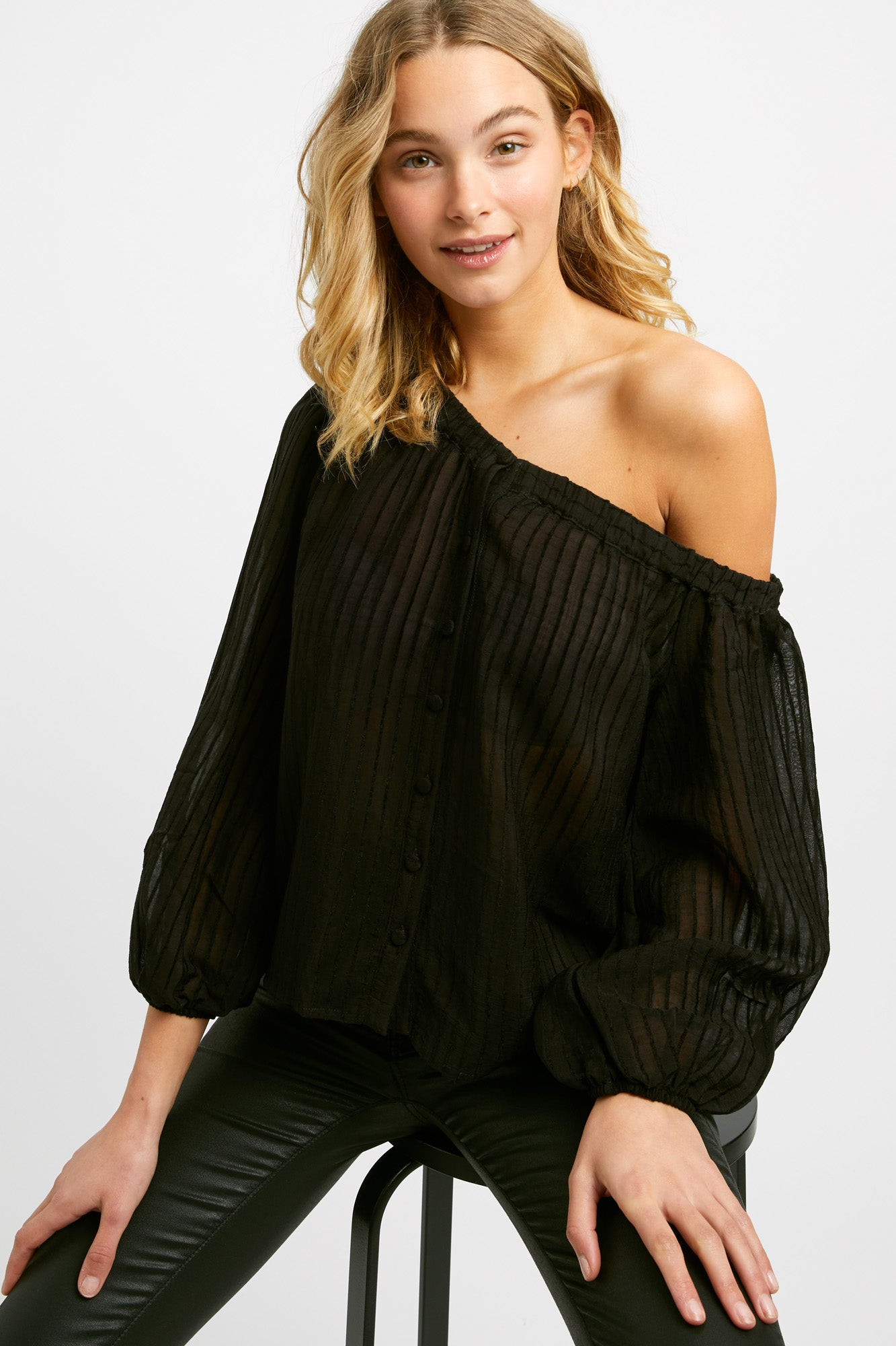 Ella Button Top