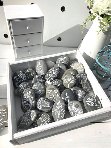 rock painting simple ideas Christine Onward australia decorative art blog