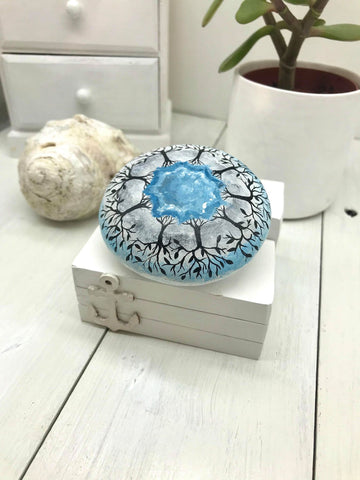 art mandala painted rock stone decoration nautical christine onward blog Old Bar australia