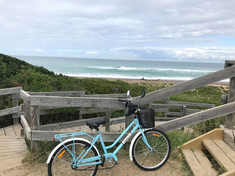bike ride Old Bar australia holiday leisure ocean beauty Christine Onward art
