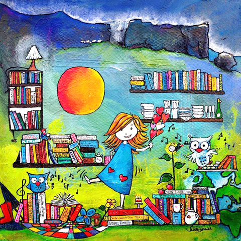 painting naive art Sussi Louise Smith UK Ilke art Christine Onward blog gouache girl sunshine books