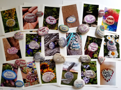 Work on the calendar of painted rocks by Bethany Kirwen