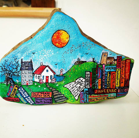 painted rock Sussi Louise art online naive Christine Onward