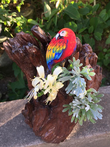 red bird garden decoration parrot chinese artist