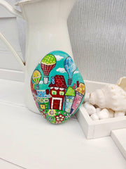 painted rock christine onward folk art interior decoration gift for her beach cottage house