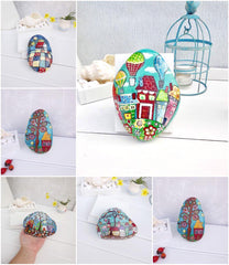 turquoise painted rocks collection christine onward interior original decorations for sale christmas gift