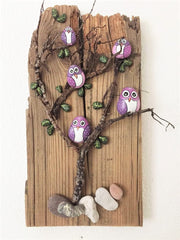 painted rocks owls wall home decorations