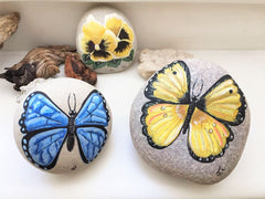 painted rocks butterflies home decorations