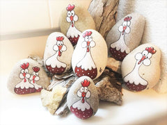 painted rocks chickens happy home decorations winning stone red week rockstreet collective