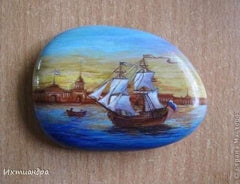 Art rock boat blog Christine Onward Australia gallery home decoration oil acrylics unique original article ocean travel