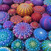 painted rocks mandala dot art beautiful colors christine Onward blog Australia artist