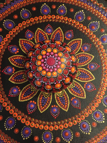 mandala dot art rock Street blog Christine Onward Alina Prodan Spain
