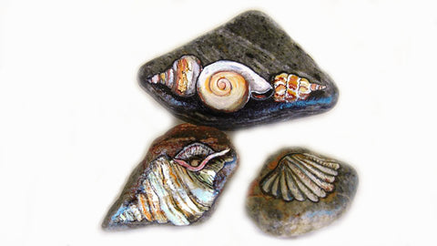 shells ocean Greece painted rocks Danijela Milosevic Christine Onward art on stones Wednesday blog