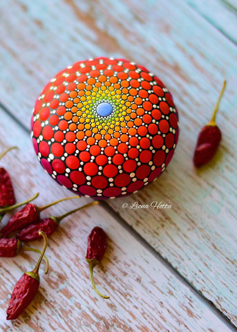 mandala painted stone rock art christmas gift idea Christine Onward blog Rock Street Gallery Sydney