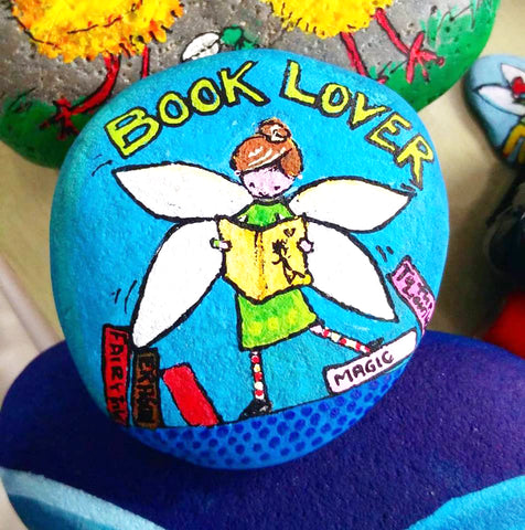 painted rock fairy fun love colourful Sussi Louise Ilkley Uk home children gift