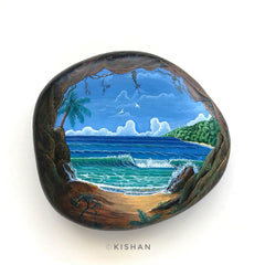 painted rock ocean blue Kishan Patel