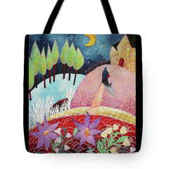 tote bag surreal night sleep story