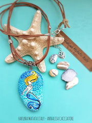 painted rock wearable art mermaid dots Annalisa Cacciatore