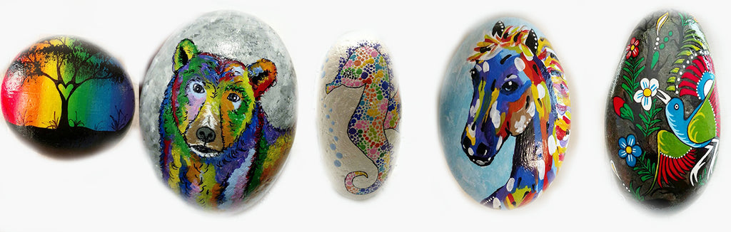 painted rock collection Misty Day