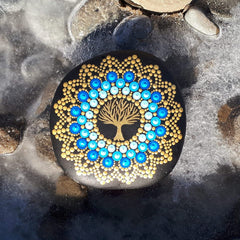 tree of life mandala rock dot art elena marisol gomez