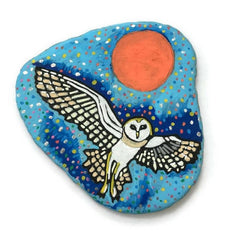 painted rock dot art owl happy home decoration Emily Clark
