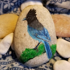 painted rock bird happy home decorations judy smith