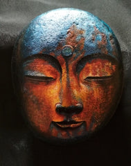 painted rock blue buddha happy home decoration Yuk-moy tan tapia
