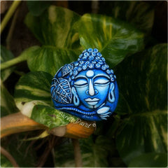 painted rock meditation blue buddha happy home decoration shruti rachael david