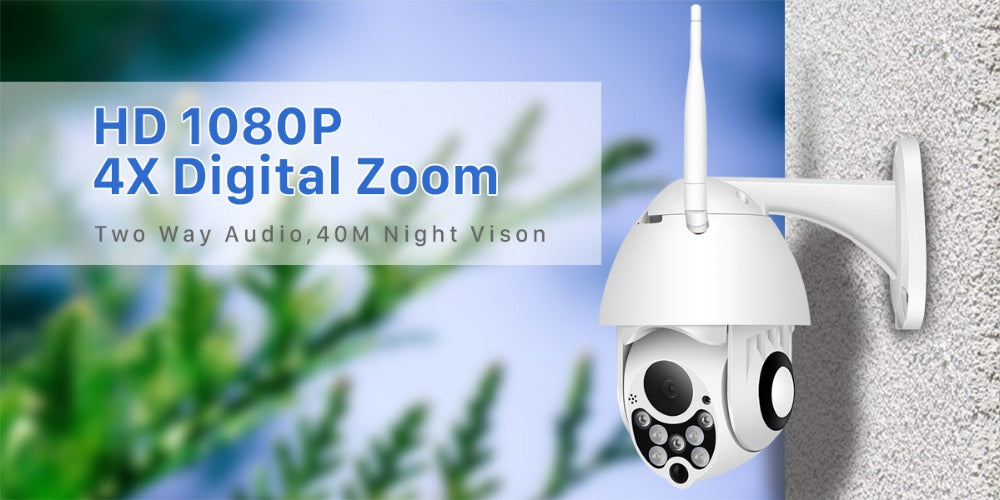 Motion Detection Outdoor 1080 Dome WiFi Camera