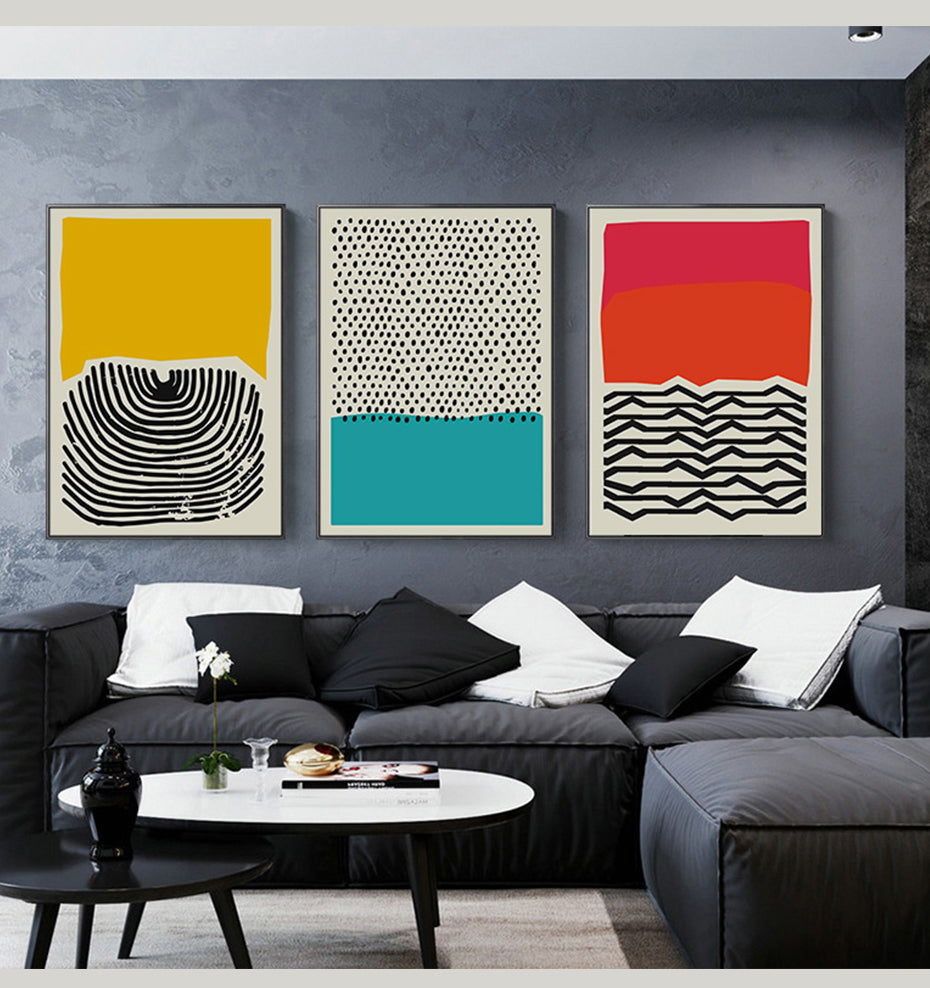Modern Geometric Abstract Multicolor Decorative Picture