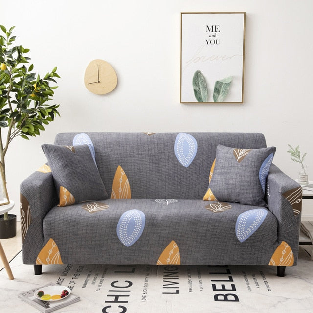 Geometric Stretch Sofa Cover