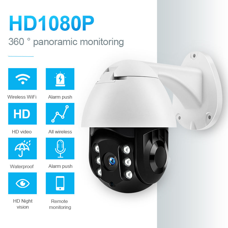 Outdoor PTZ Full HD Ip Camera CCTV Adaptable