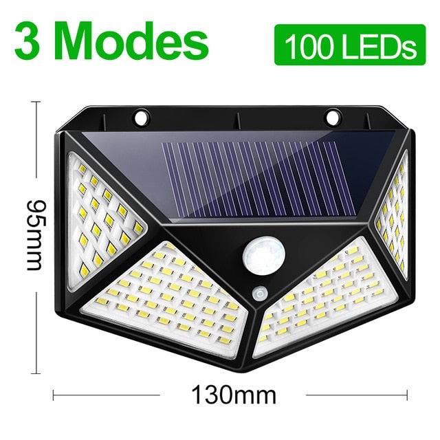 100 LED Motion Solar Light Outdoor Lamp