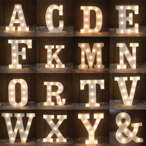 Letras iluminatas LED A-Z - Decorare -