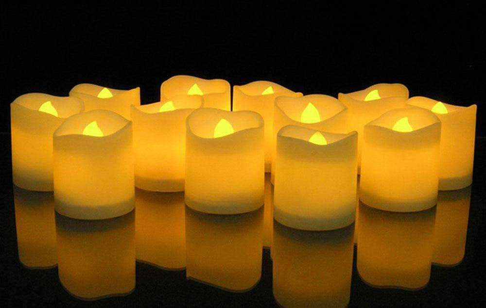 Set de velas para decorar con luz amarilla - Decorare -