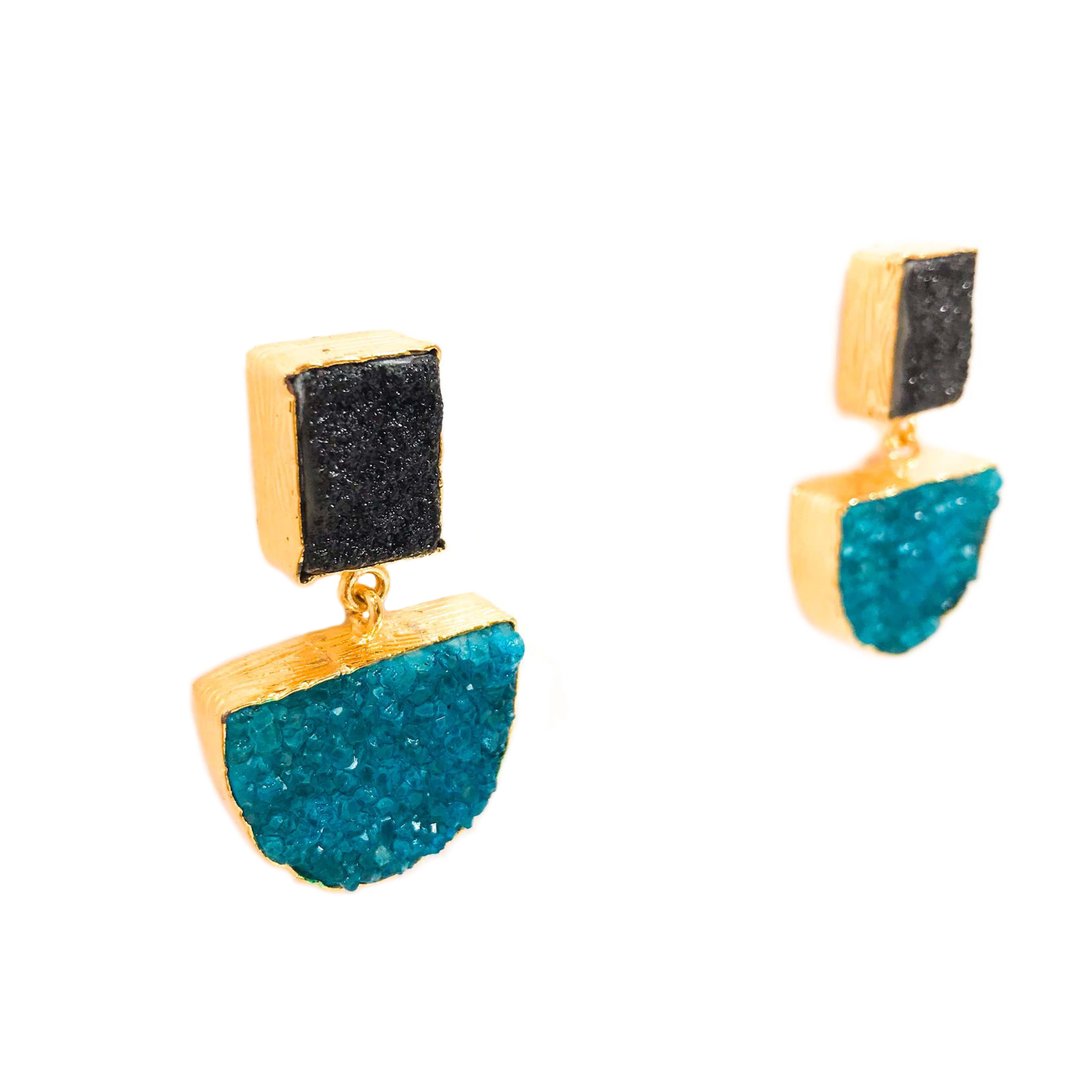 Suzanne Earrings Turquoise (semi-precious)