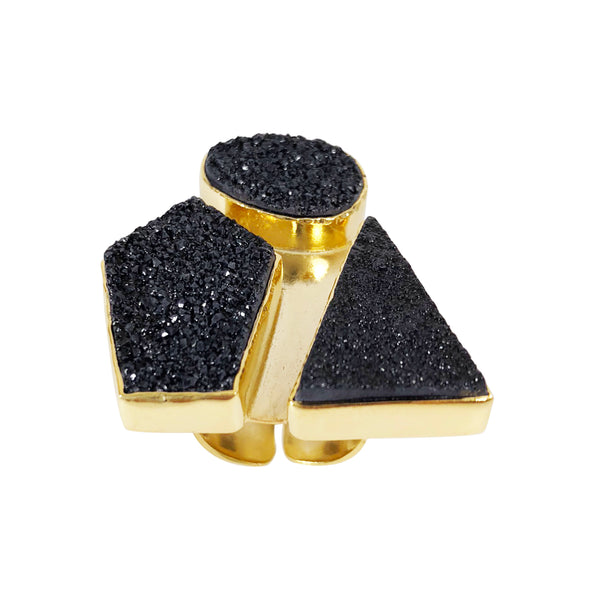 Chix Ring black (semi-precious)