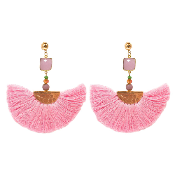 Elizabeth Earrings pink (semi-precious)