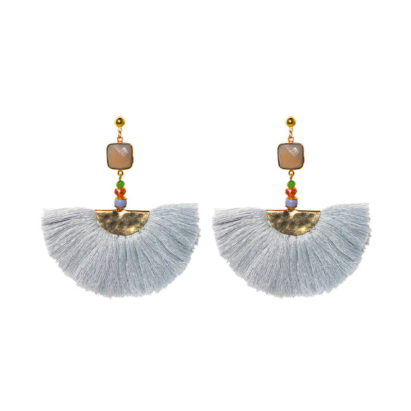Elizabeth Earrings grey (semi-precious)