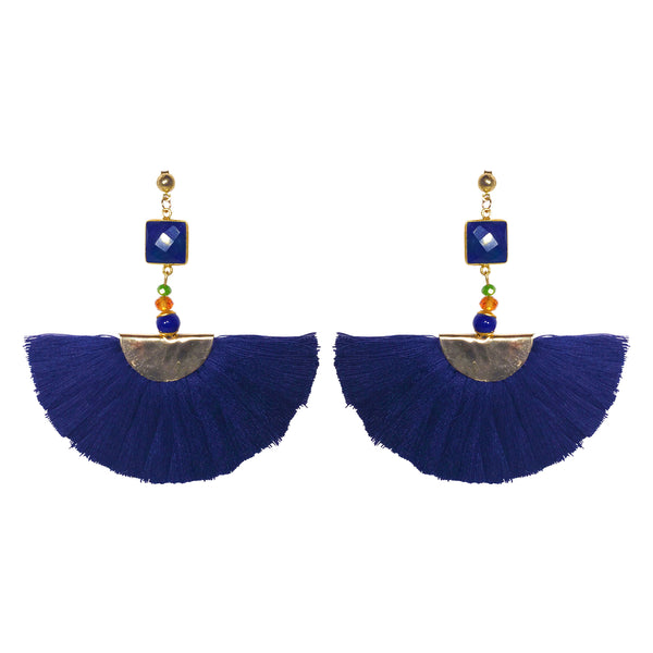 Elizabeth Earrings navy (semi-precious)