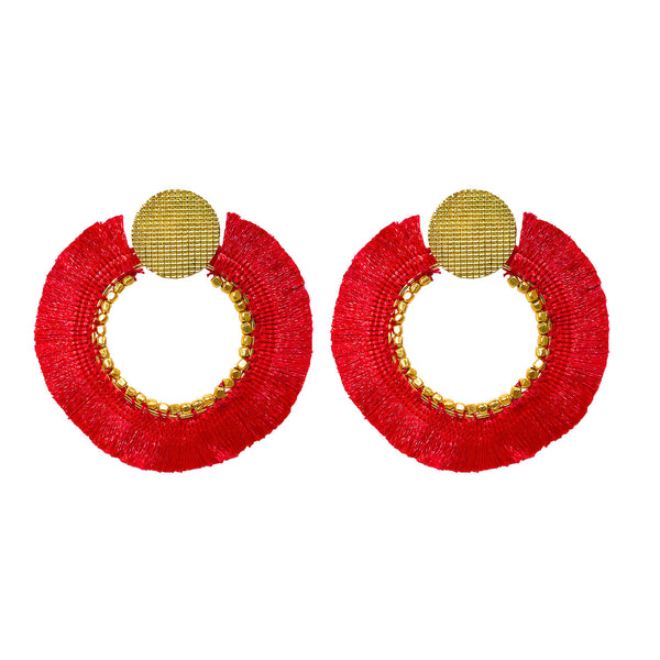 Jessica Earrings rouge