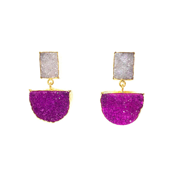 Suzanne Earrings Violet (semi-precious)